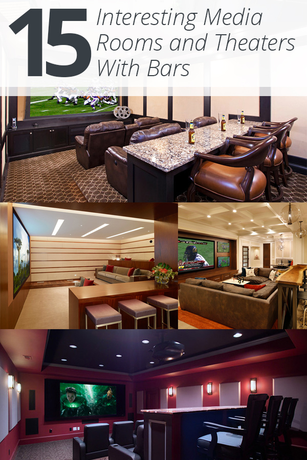 15 Interesting Media Rooms And Theaters With Bars Home