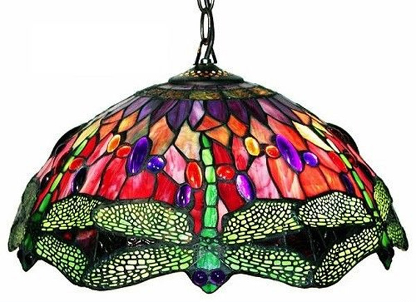 hanging lamp - 15 Unique Design Of Stained Glass Chandelier Home Design Lover