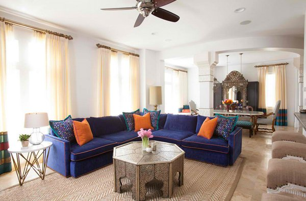 Moroccan Living Room Design View in gallery Modern Moroccan