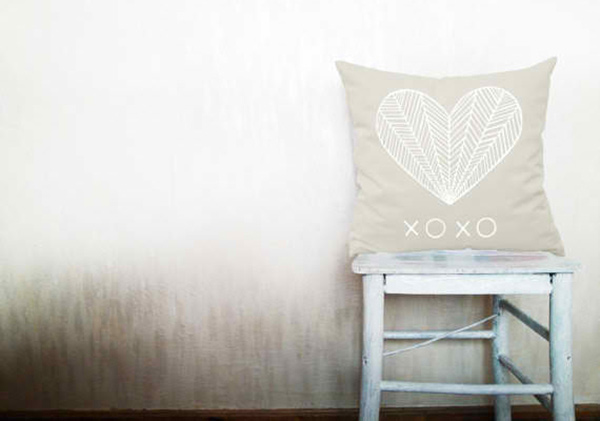 Heart XOXO Decorative Throw Pillow