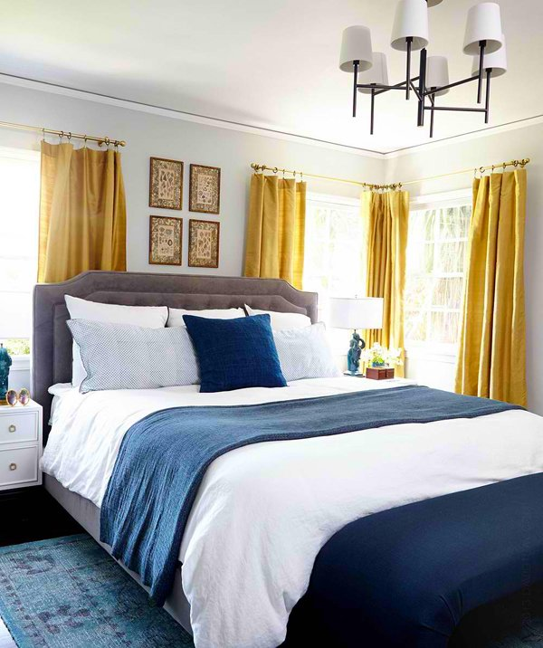 royal blue and gold bedroom this regal bedroom makes a
