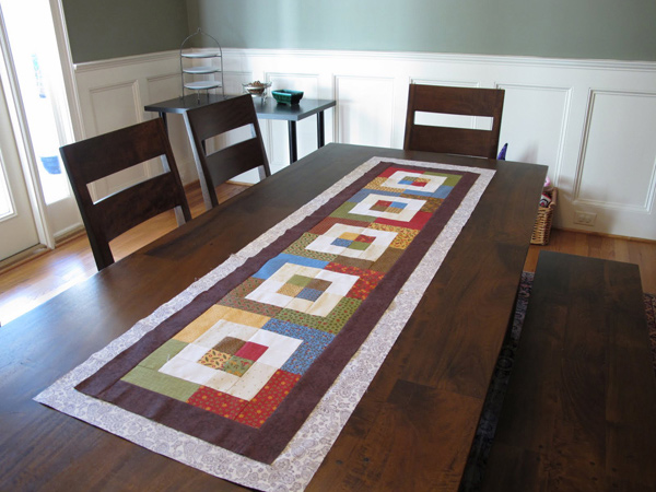 15 Table Runner Designs for Your Dining Table Home  : 13 Modern Cozy from homedesignlover.com size 600 x 480 jpeg 203kB