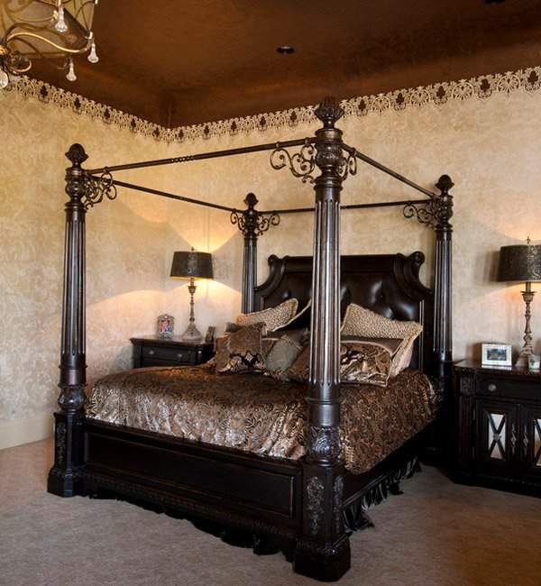 15 gorgeous gothic bedroom ideas home design lover for Medieval bedroom design