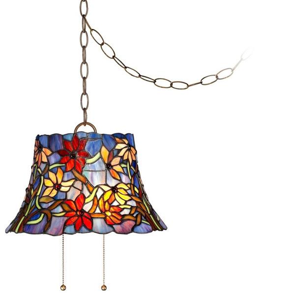 floral glass pendant