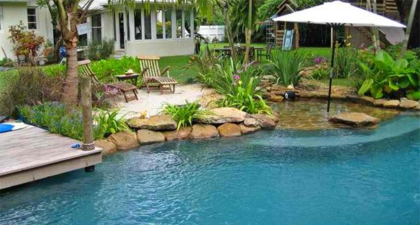 Landscaping Backyard Beach : lagoon pool would indeed by lovely like this one with a tropical