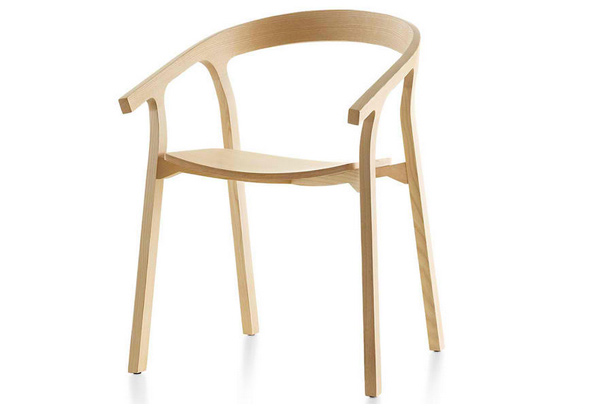 Modern Wooden Chairs interesting modern wooden dining chairs wood pads throughout design