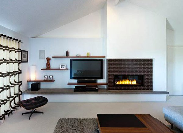 Twist of Old Brick Fireplaces in 15 Modern and Contemporary Living ...