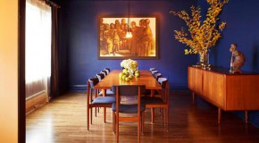 How to Get A Blue and Orange Dining Room