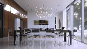 modern glass dining