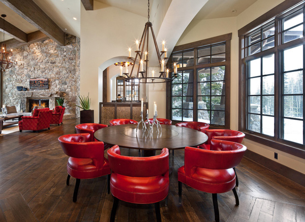 15 specially-made red dining room furniture | home design lover