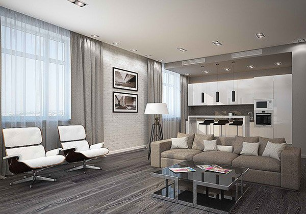 15 modern white and gray living room ideas home design lover for Contemporary white living room design ideas