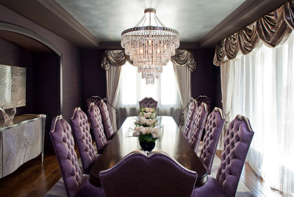 Posh Purple Dining Room Furniture Home Design Lover