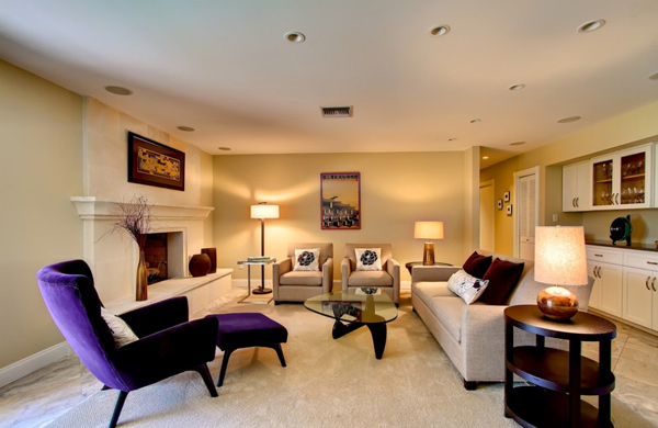 Pretty In Purple Living Room Furniture Home Design Lover - Purple accent chairs living room