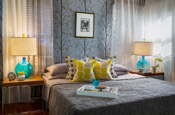 15 Gorgeous Grey Turquoise and Yellow Bedroom Designs – Grey and Yellow Bedroom Designs