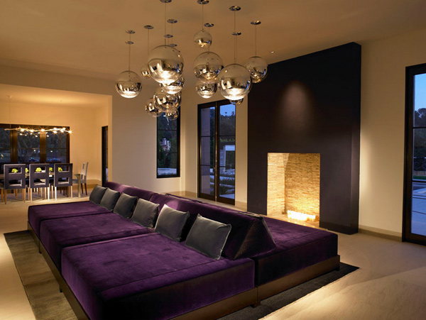 15 pretty in purple living room furniture | home design lover