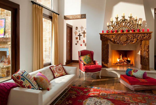 15 beautiful living room interior design ideas home for Mexican inspired living room ideas