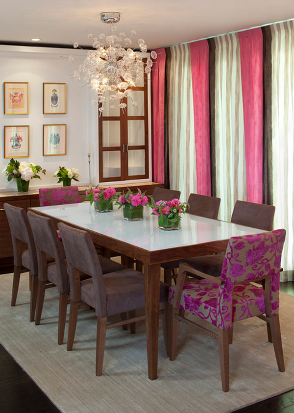 15 posh purple dining room furniture home design lover for Dining room ideas purple