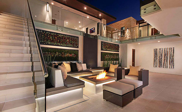 perfect terrace with inside luxury homes