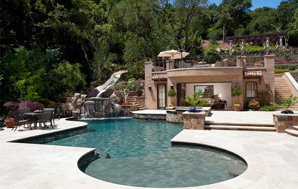 15 Ideas For Daunting Mediterranean Pool Designs Home