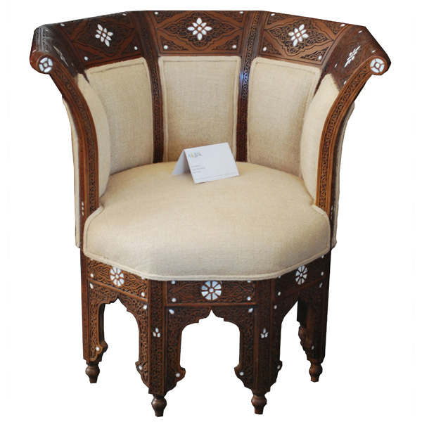 A Syrian Mother Of Pearl Bench Available To Purchase At: 15 Interesting Moroccan Chairs