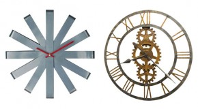 15 Interesting Industrial Wall Clock Designs