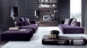 15 Pretty in Purple Living Room Furniture