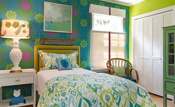 15 killer blue and lime green bedroom design ideas home for Bright green bedroom ideas