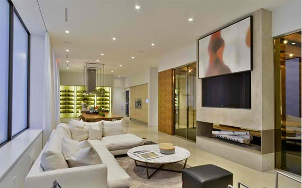 15 ideas for tv built in media wall in modern living rooms home design lover - Deco lounge tv ...