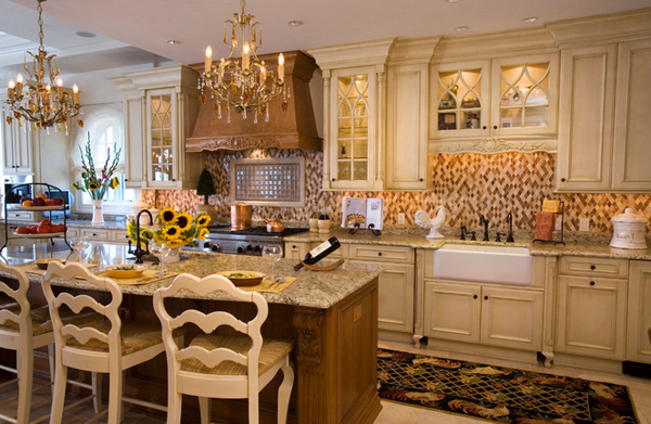 15 fabulous french country kitchen designs home design lover - French country kitchens ...