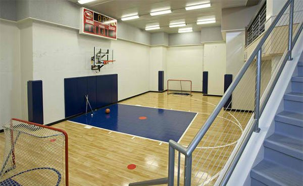 List deluxe 15 concepts for indoor house basketball courts for Indoor basketball court installation