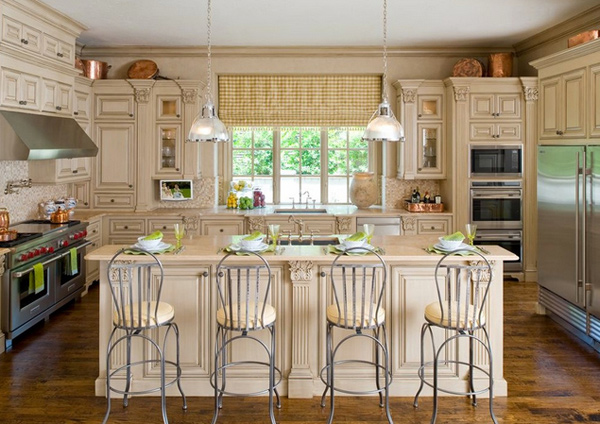 15 fabulous french country kitchen designs home design lover. Black Bedroom Furniture Sets. Home Design Ideas