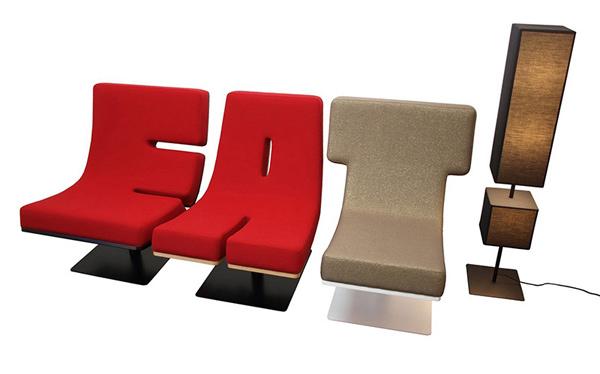 Typographic furnitures