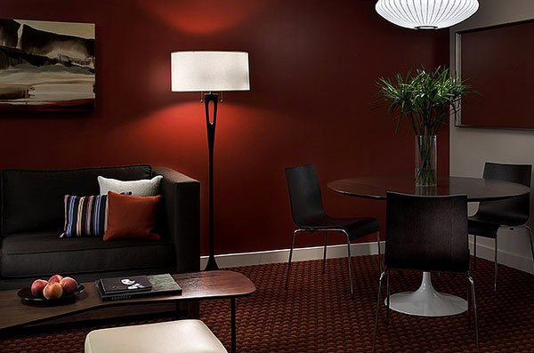 Mesmerizing Brown Living Room Paint Ideas