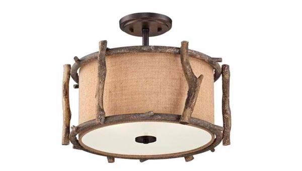 15 semi-flush mount lighting for rustic interiors | home design lover