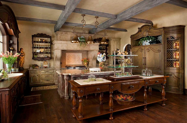 15 fabulous french country kitchen designs home design lover for French country kitchen designs photos