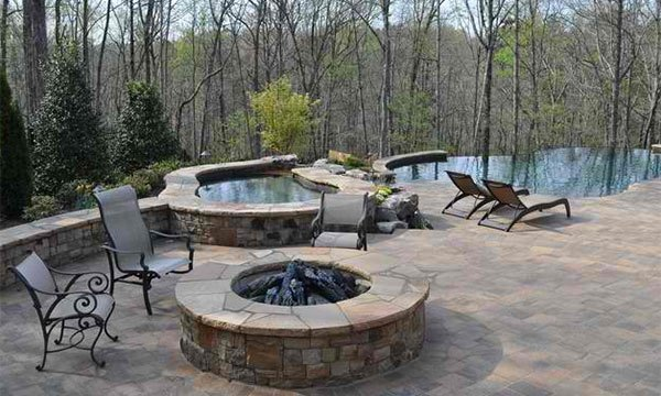 Yehhublog fire water combo in 15 traditional pools with for Fire pit water feature combo
