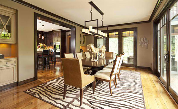 15 ideas for beige dining rooms home design lover for Paint colors for wood trim