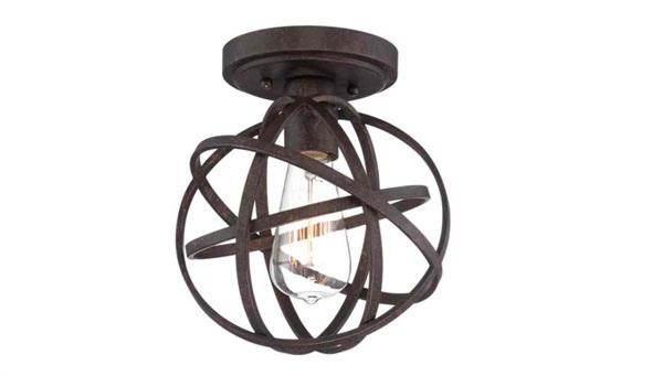 15 semi flush mount lighting for rustic interiors home design lover. Black Bedroom Furniture Sets. Home Design Ideas