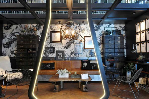 vintage-inspired lounge