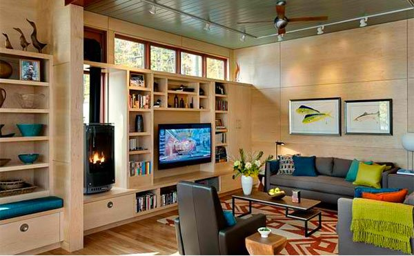 15 ideas for tv built-in media wall in modern living rooms | home