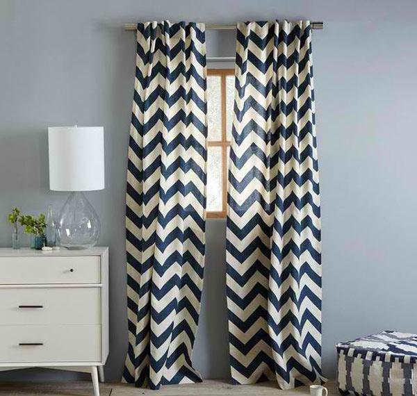 Blue Window Panel Curtains