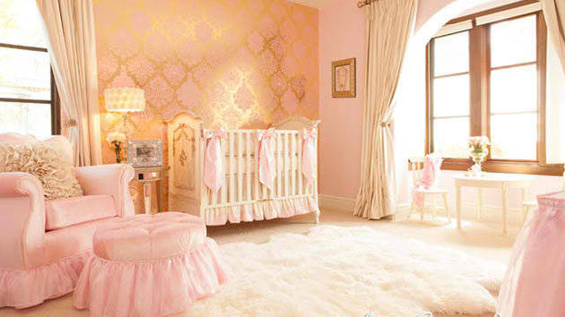 15 sweet baby girl bedroom designs for your princess for Baby girls bedroom designs