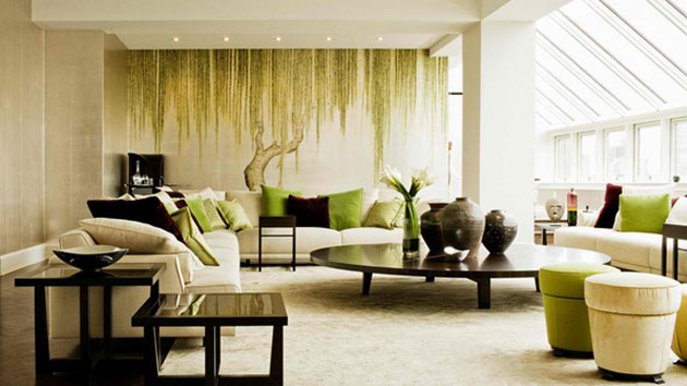15 Contemporary Grey and Green Living Room Designs Home Design Lover