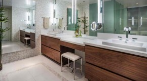 15 Bathroom Designs with Flat-Panel Cabinets