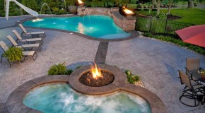 Fire+Water Combo in 15 Traditional Pools with Fire Pits