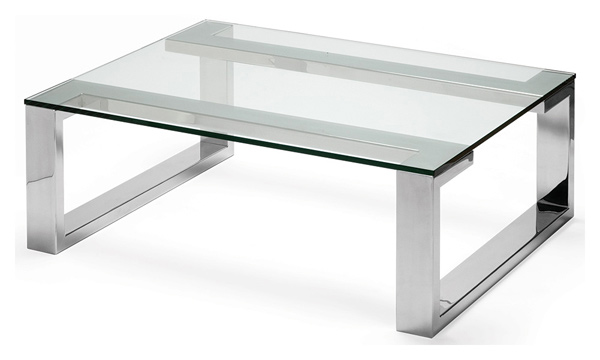 15 awesome designs of stainless steel rectangular coffee tables home design lover Steel and glass coffee table