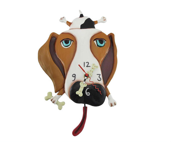 Dog 15 Animal Inspired Wall Clock Designs Home Design Lover On