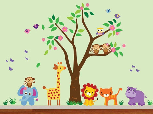 Fun Animal Wall Decals For Kids Home Spaces And Nurseries - Wall decals animals