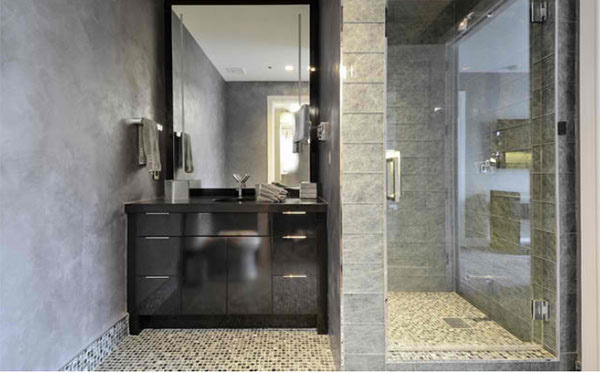black cabinet designs in  bathroom spaces  home design lover, Home decor