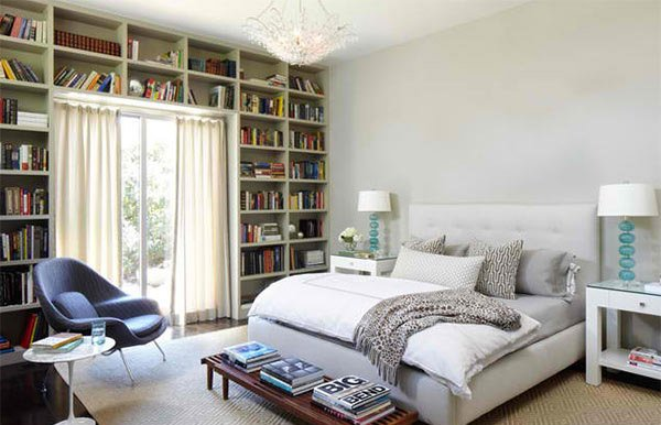 15 Ideas in Designing a Bedroom with Bookshelves | Home Design Lover